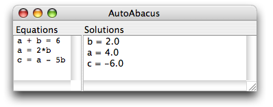 autoabacus, java, business rules, rules engine, math, mathematics, equation, solver, equation solver, api, library, calculator, calculate, constraints, language, satisfaction